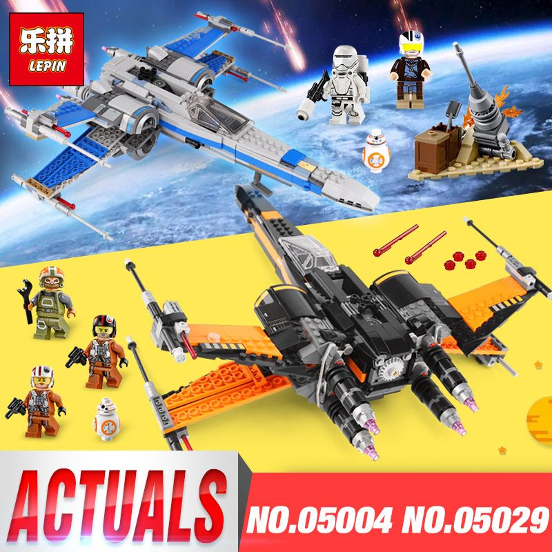 Lepin 05004 05029 Building Blocks Bricks Star Wars Toys For Children First Order Poe's X Wing Fighter Compatible LegoINGys 75102