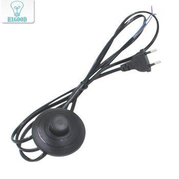 Ligne Câble 1.8 m Sur Off Cordon D'alimentation Pour LED Lampe avec 317 Bouton switch UE/US Plug Lumière de Commutation Blanc ou Noir Fil Extension