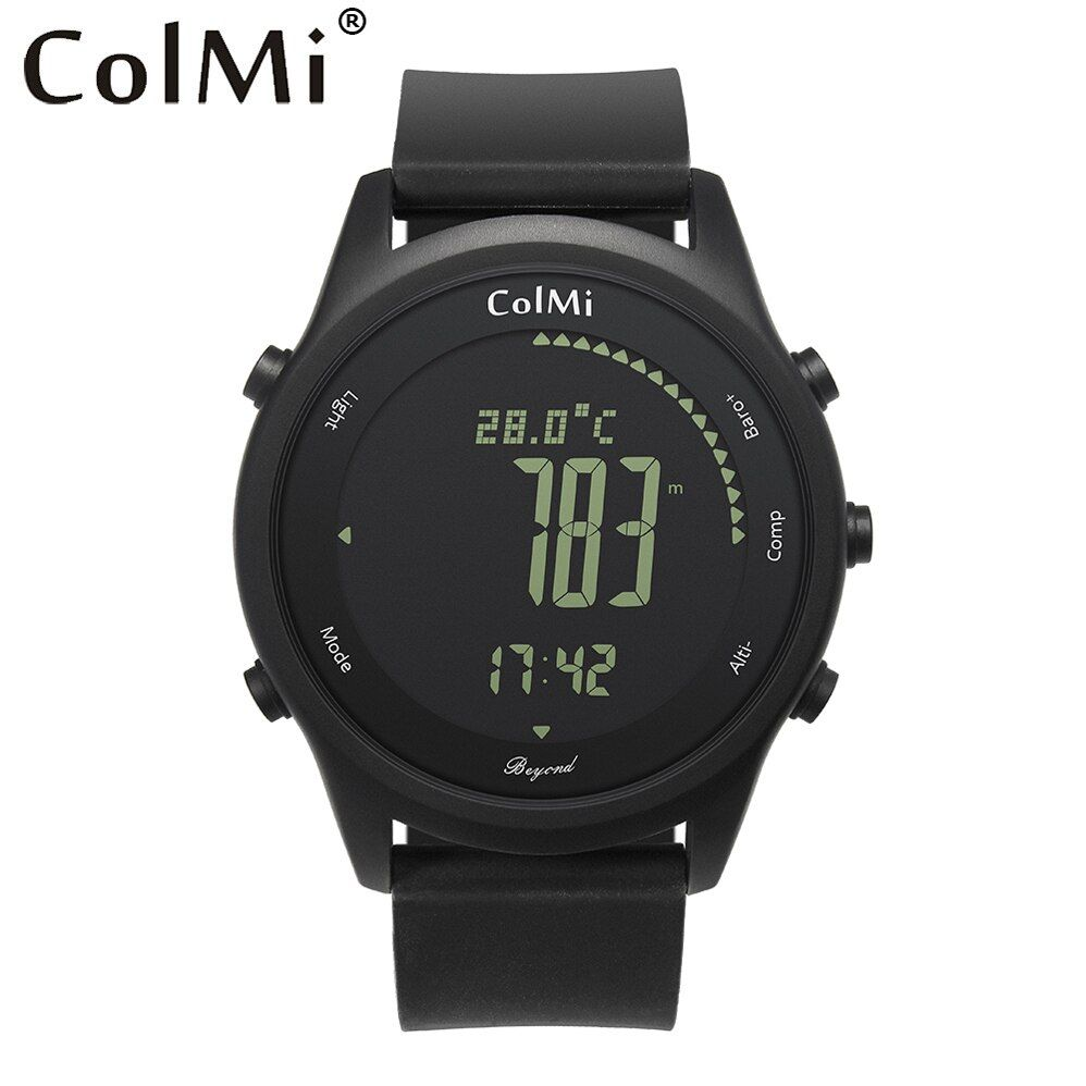 ColMi Smart Watch Beyond Ultra Slim Round Leather IP68 5ATM Waterproof Compass Altimeter Barometer Clock for Mens and Couples