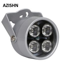 AZISHN CCTV LEDS 4 array IR led illuminator Light IR Infrared waterproof Night Vision CCTV Fill Light For CCTV Camera ip camera