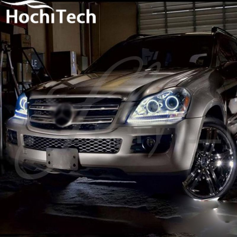 Excellent SMD 5050 LED white headlight halo angel demon eyes kit for Mercedes-Benz GL-Class X164 GL450 2007 - 2012