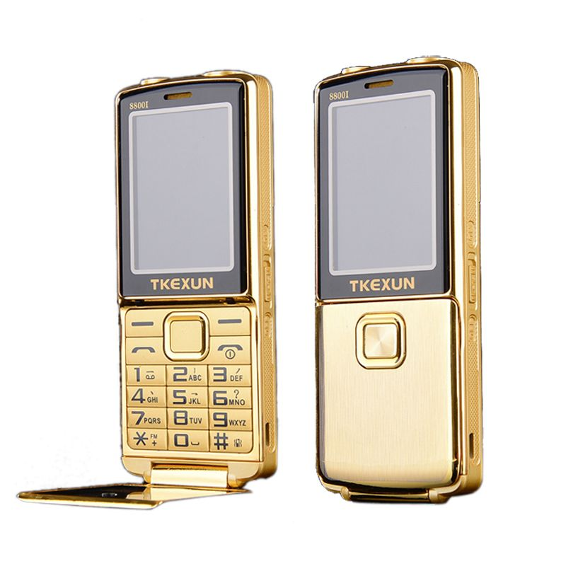 8800i одним из ключевых двойной факел одним из ключевых FM Bluetooth SOS Speed Dial WhatsApp старик Старший разблокирована флип металла мобильного телефона ...