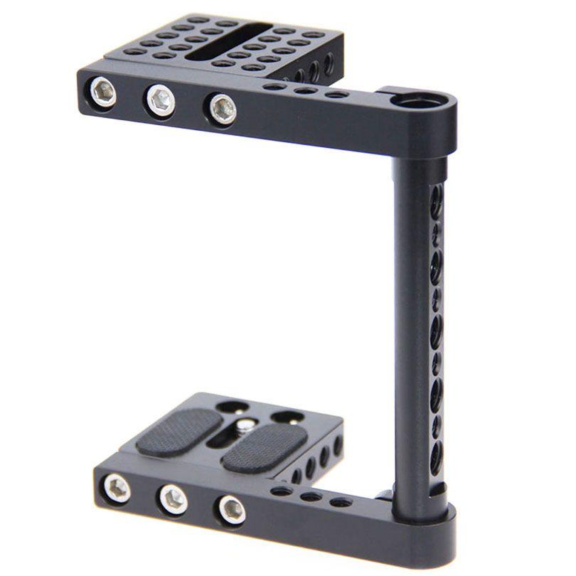 DSLR Vidéo Caméra Cage Kit Stabilisateur Soutien Baseblate Pour canon nikon Panasonnic Stable Fotografia Accessoires C1137