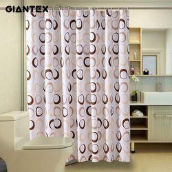 GIANTEX круг Водонепроницаемая занавеска для ванной душ шторы в ванную комнату Cortina Ducha Rideau De Douche douchordijn U1089