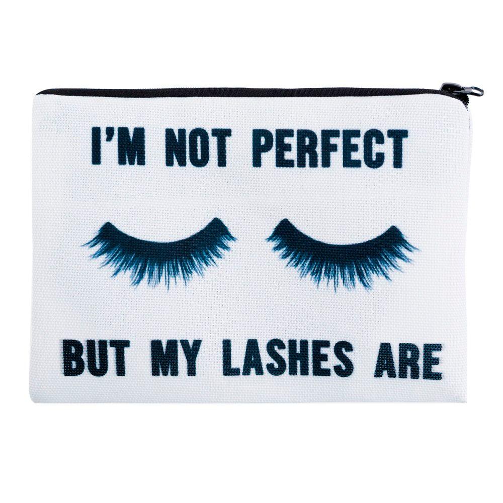 Lashes white 3D Printing simple makeup bag neceser who cares Cosmetic case women trousse de maquillage organizer pencil case