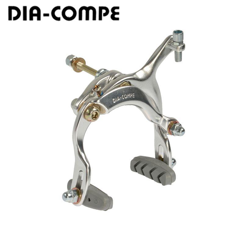 Japan DIA-COMPE Aluminum Ropegripper Long Arm Folding Bicycle MTB Mountain Bike Brake Clip 61-79mm Dual Pivot Caliper Brake