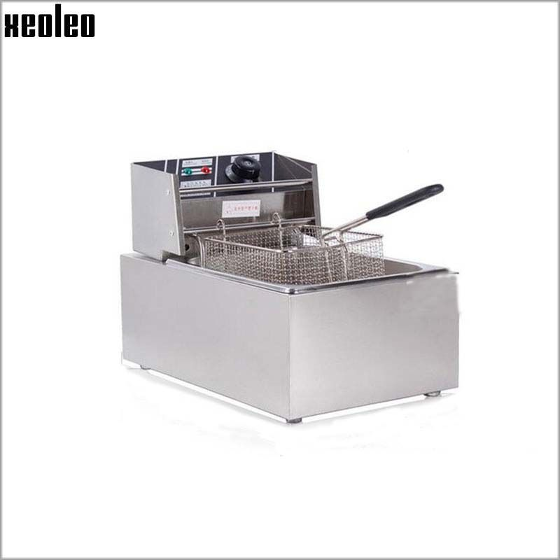 XEOLEO 6L Electric Deep Fryer 2500W Commercial Fryer French fries maker Chicken Frying machine 220V 200 degree adjustable