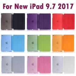 Para Apple nuevo iPad 9.7 pulgadas 2017 y 2018 dormir wakup ultral Slim Funda de cuero elegante para iPad A1822 a1823 A1893