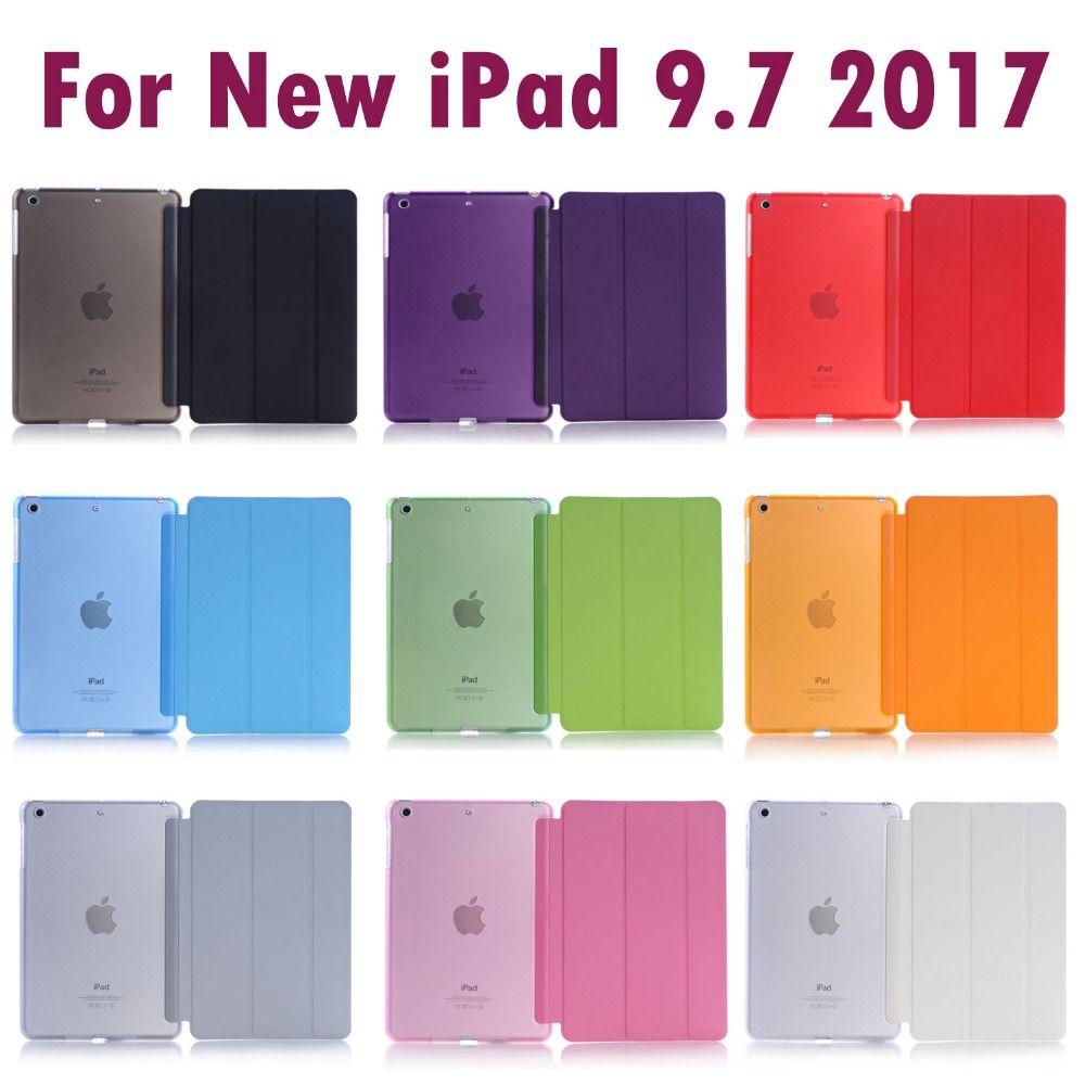 Pour Apple Nouvel iPad 9.7 pouces 2017 & 2018 de Couchage Wakup Ultral Mince En Cuir Smart Cover Case pour iPad A1822 A1823 A1893