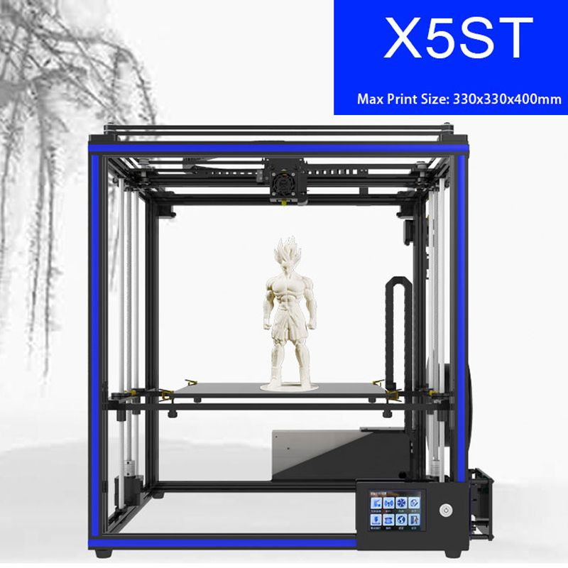 Tronxy X5ST 2018 NEW 3d printer with LCD Touch screen updated version mainboard large print size 330*330*400mm