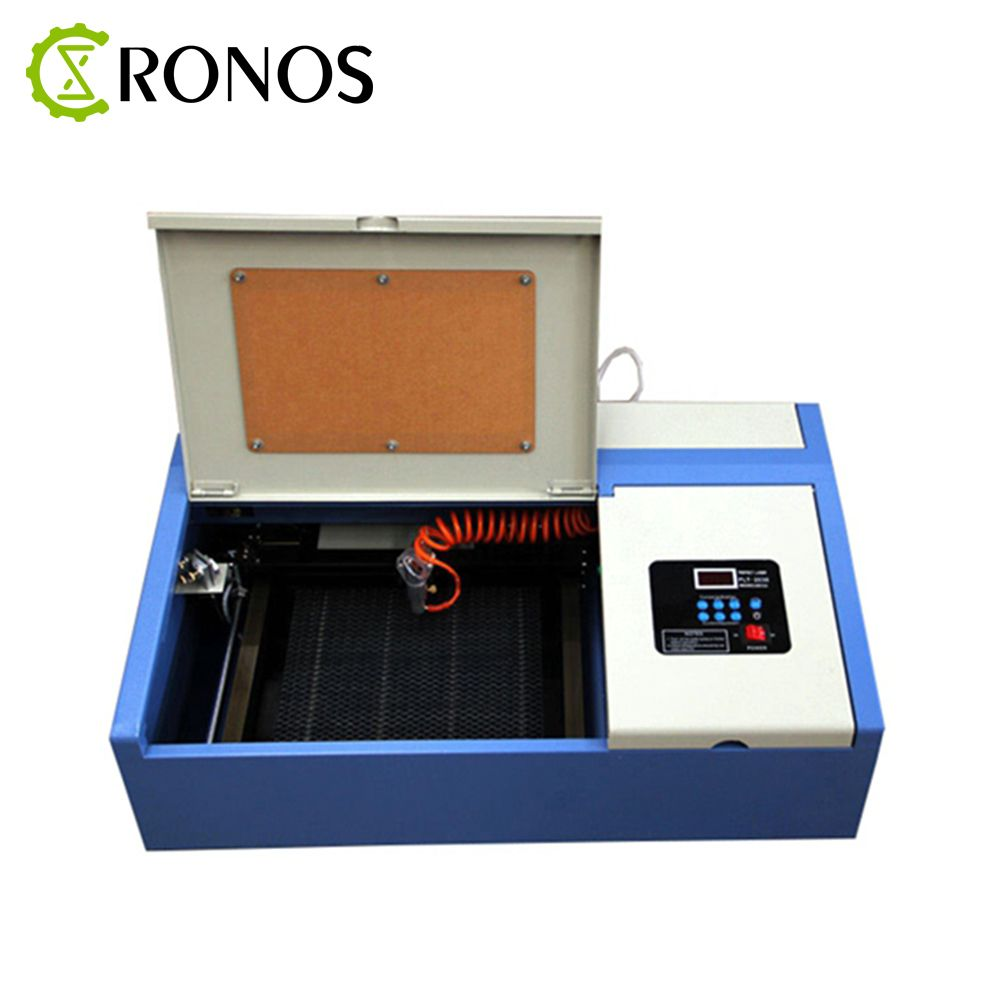 40W CO2 Laser Engraving Cutting Machine Portable Engraver Cutter USB 3020 Port High Precise For Rubber Stamp