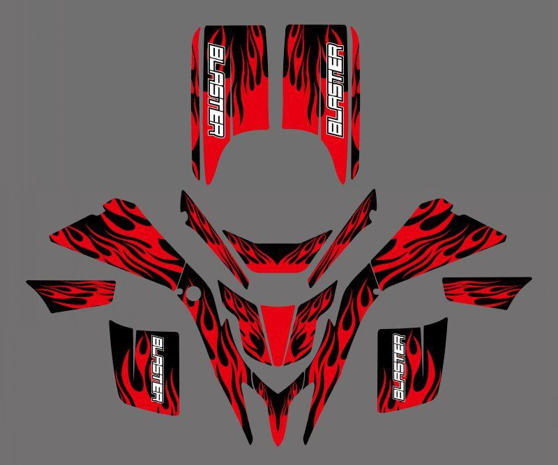 0214 Fire New Style DECALS STICKERS GRAPHICS For Yamaha BLASTER YFS200 1988 - 2006 1990 1994 1998 2000 2002 YFS 200 Blaster200