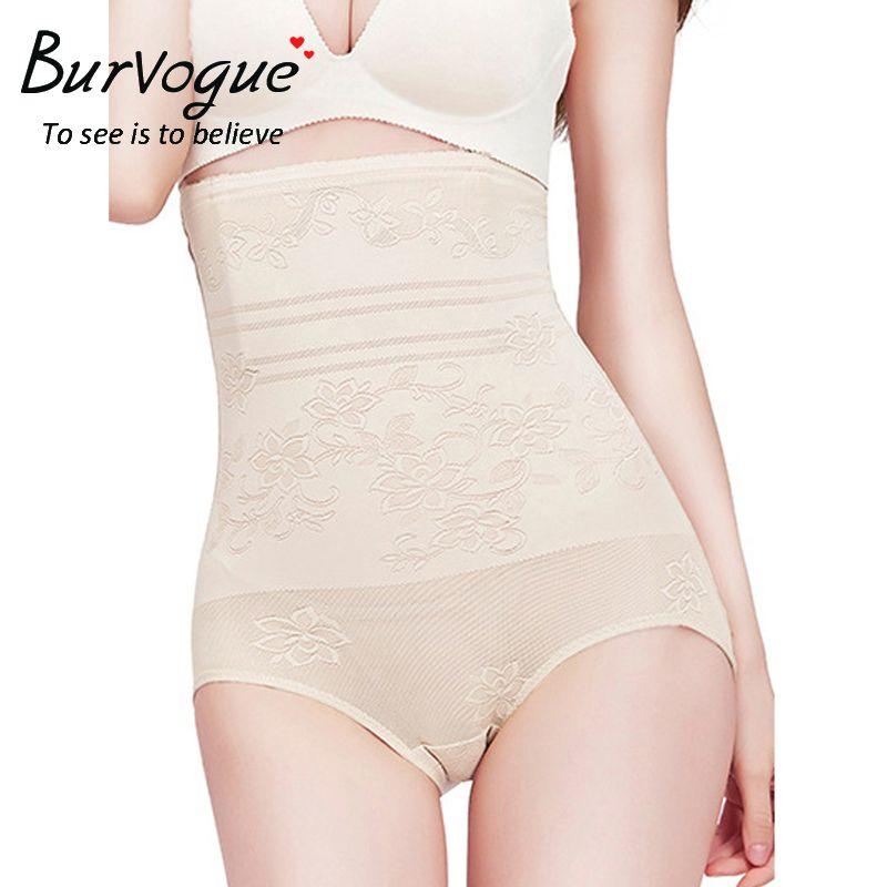 Burvogue Femmes Taille Haute Butt Shapers Tummy Control Gaines Corps Shaper Culottes Sous-Vêtements Butt Lifter Serre-Taille Shapewear
