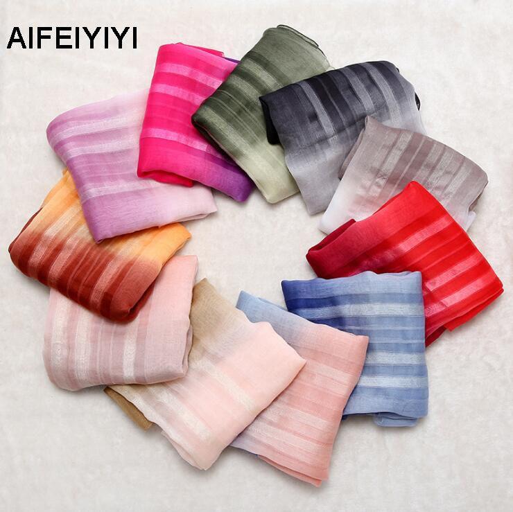 2018 new ladies temperament gradient soft fluffy silk wool scarf elegant warm shawl sunscreen silk scarf female