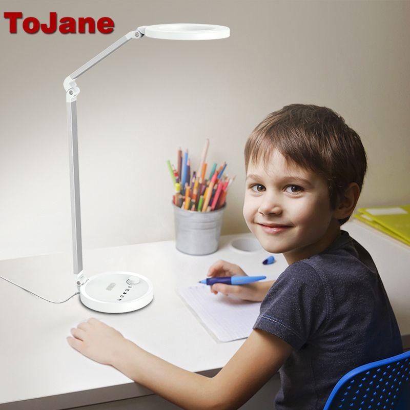 ToJane Desk Lamps CCC Led Desk Lamp Led Bulbs Table Lamp Desktop Folding Table Lamp Adjustable Lighting Office Light TG2520