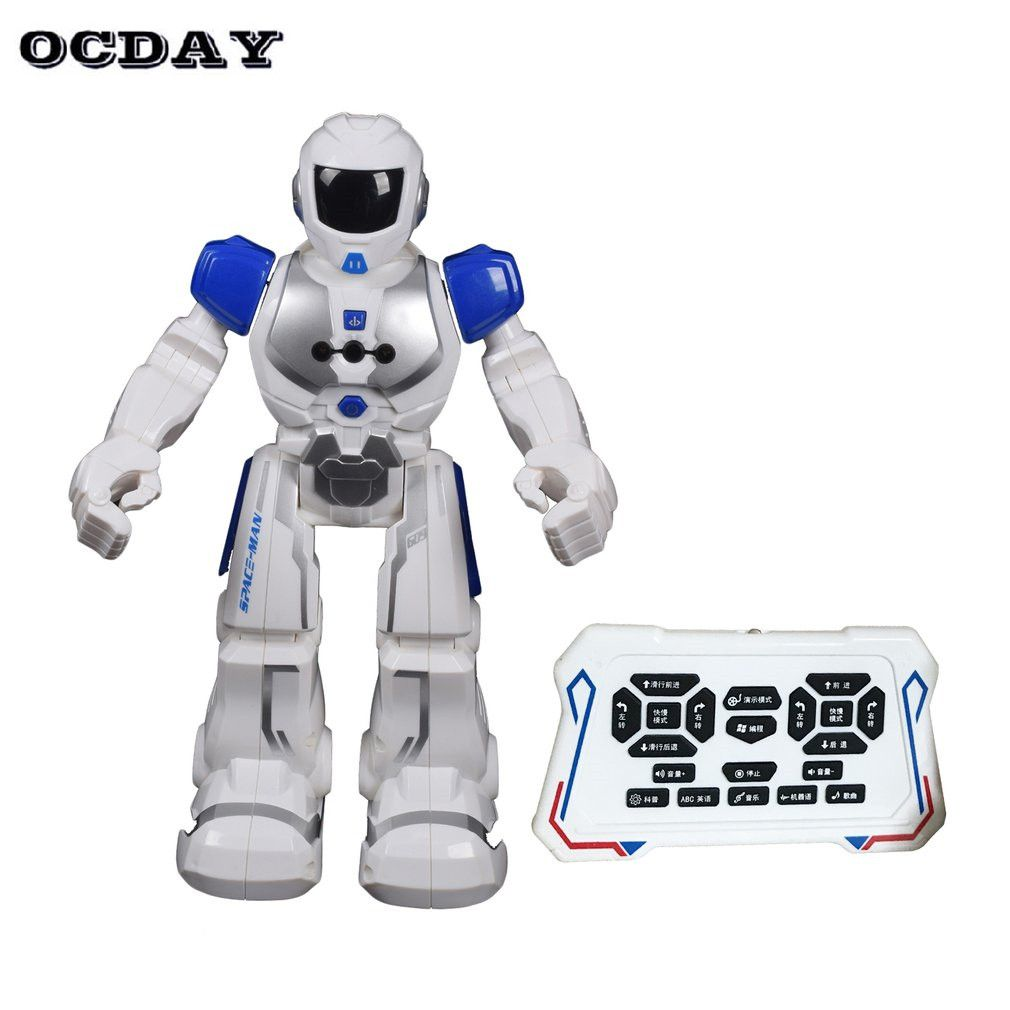 Hot! RC Smart Space Robot Intelligent Remote Control Robotica Toy Walking Dancing Humanoid Robot For Children Kids Birthday Gift