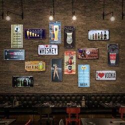 Beer Glass Plat Mobil Vintage Tin Tanda Bar Pub Dekorasi Dinding Rumah Retro Poster Seni Logam