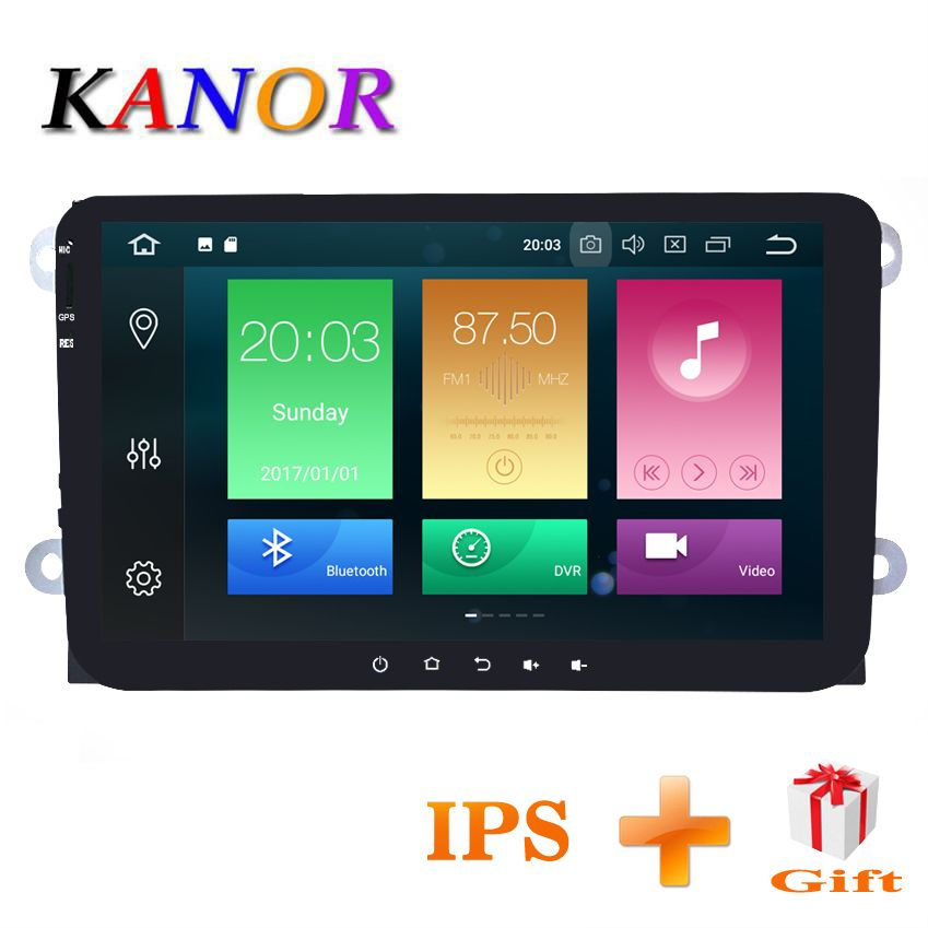 KANOR 4+32G IPS 2 din android 8.0 car radio for vw passat b5 b6 jetta golf 5 6 bora tiguan polo caddy car multimedia player