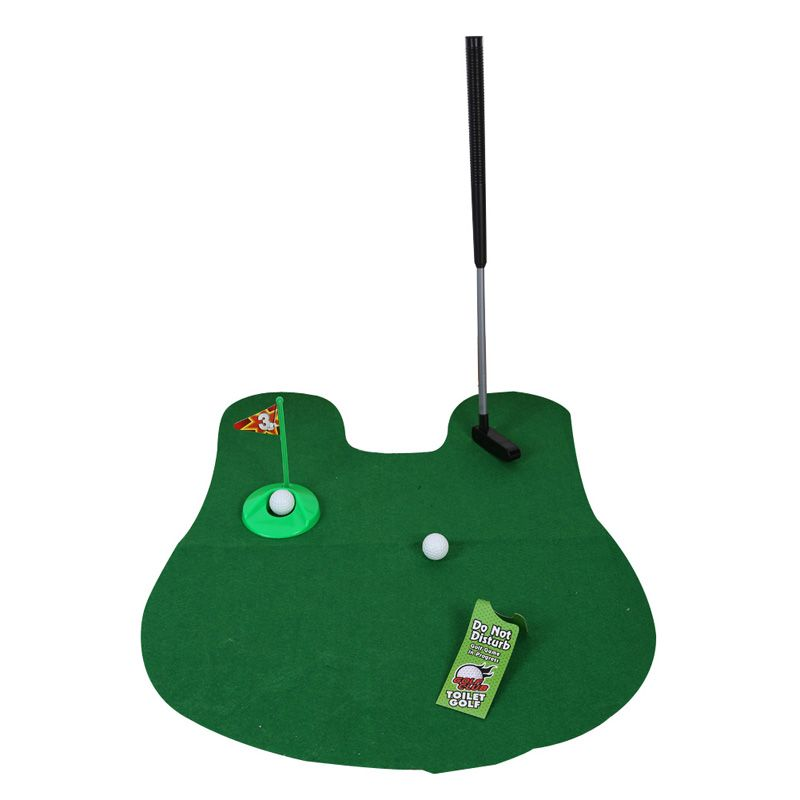 Potty Putter Toilet Golf Game Mini Golf Set Toilet Golf Putting Green Funny Novelty Game Golf Accessories Euipment