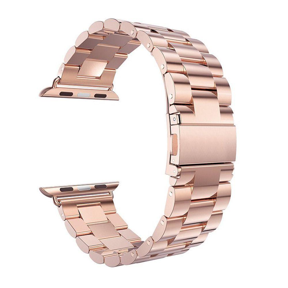 Ремешок из нержавеющей стали + адаптер для iwatch Apple Watch Series 1/2/3 38 мм 42 мм наручные ссылка ремень браслет черный золото серебро
