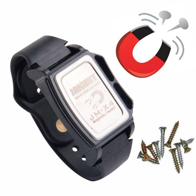 Bracelet magnétique puissant petit écrou en métal vis clous composants Bracelet d'adsorption magnétiseur outils d'électricien