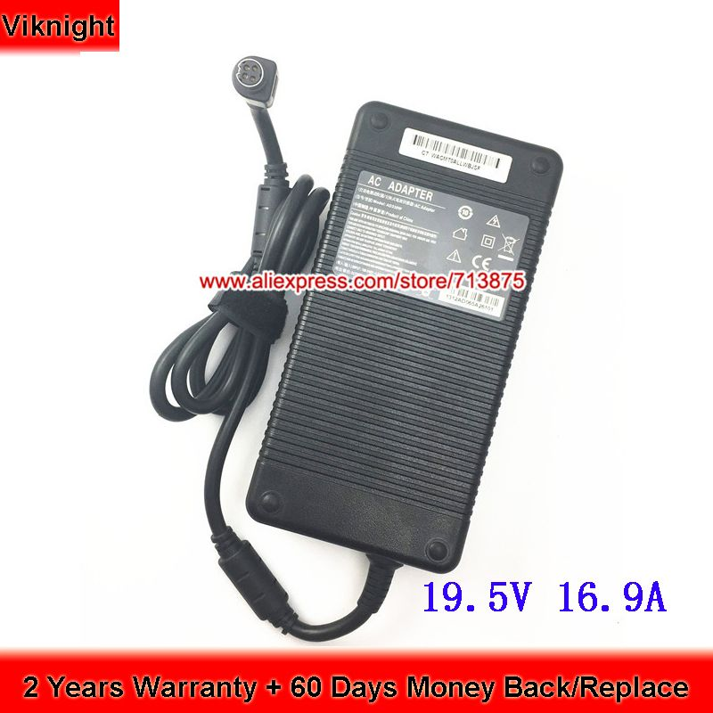 19.5V 16.9A 330W Replacement Ac adapter for MSI GT80 Clevo P775DM3 4Pin ADP-330AB D