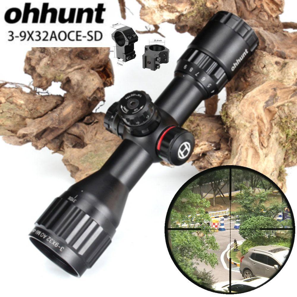 ohhunt Hunting Optics 3-9x32 AO Compact 1/2 Half Mil Dot Reticle Riflescopes Turrets Locking with Sun Shade Tactical Rifle Scope