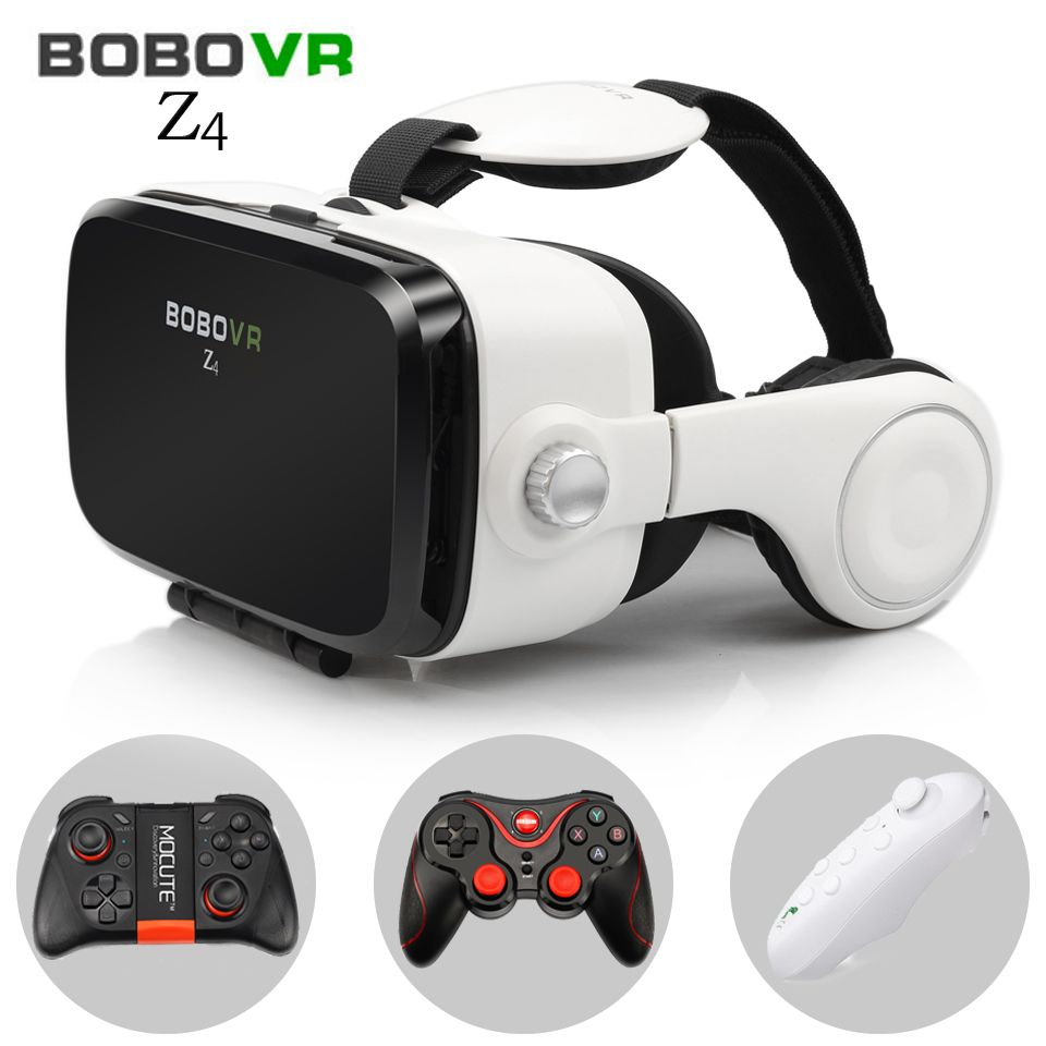 BOBOVR Z4 Virtual Reality goggles 3D glasses headset bobo vr Box Google cardboard headphone for 4.3-6.0 inch smartphones