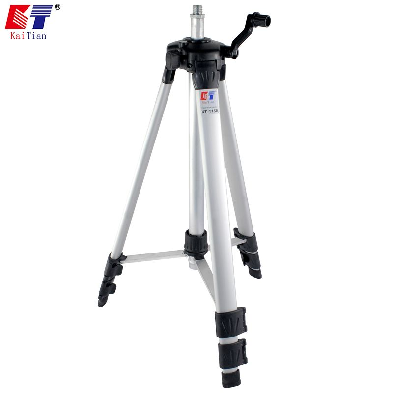 Kaitian 1.4M Tripod for 3D Laser Levels with Extension Rod Adjustable Height Plus Additional Detachable Angle Adjustment Bracket