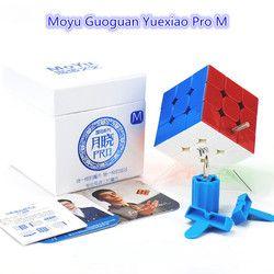 MoYu Guoguan Yuexiao Pro dan Magnetik 3x3 Kecepatan Cube Profesional Segitiga Bentuk Putar Pendidikan Anak Permainan Mainan Drop pengiriman