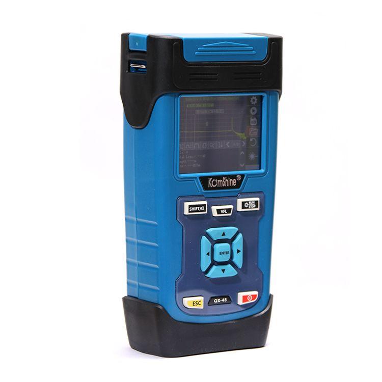 FTTH Faser Optische KOMSHINE QX45 SM 1310/1550nm 32/30dB OTDR, Touchscreen OTDR als JDSU