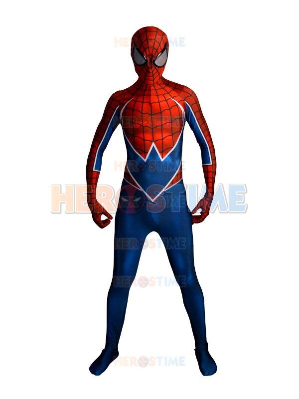 Punk-Rock Spidey 3D Druck Spinne-mann Kostüm Die Beliebtesten Lycra Spandex Halloween Cosplay Spiderman Kostüm Freies verschiffen