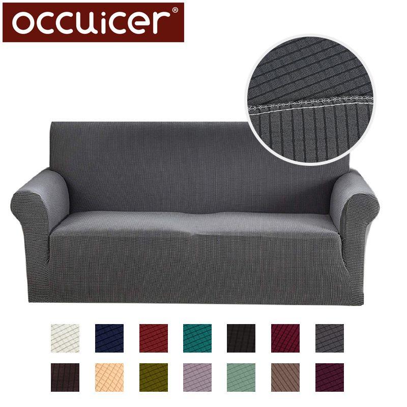 Moderne Jacquard Sofa Abdeckungen für Wohnzimmer Sessel Schnitt Couch Abdeckungen Elastische Stretch Hussen Sofa Engen Wrap