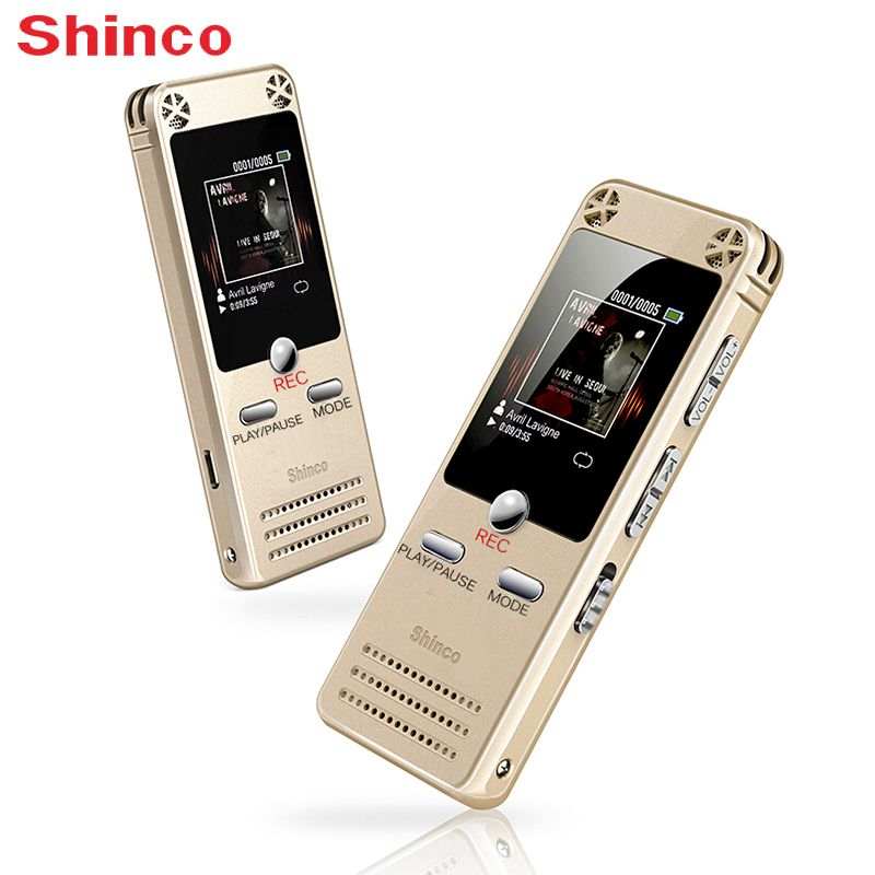 Digital Voice Recorder Shinco RV12 32G HD Professional Audio Voice Recording Pen with USB LED Display Dictaphone Device