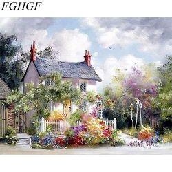 FGHGF морской пейзаж без рамки Diy цифровая картина маслом цифры акриловые картины краски на холсте стены искусства домашний декор