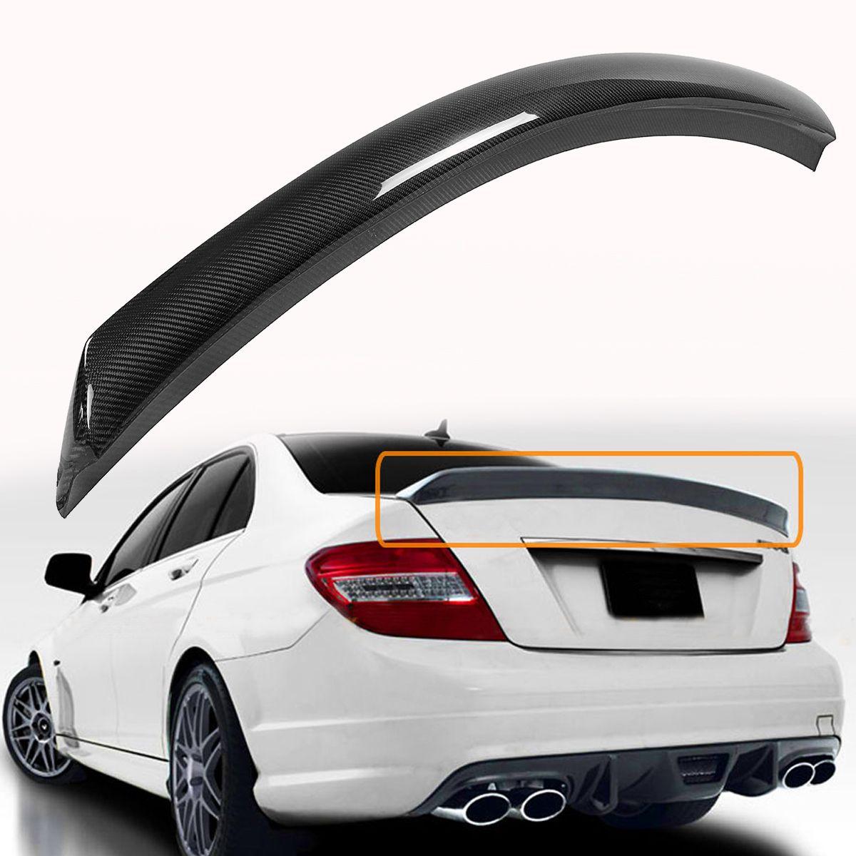 W204 C250 C300 C63 Real Carbon Fiber Auto Hinten Heckspoiler Flügel Für Mercedes Für Benz 2008-2014 4 tür V Stil Flügel Spolier