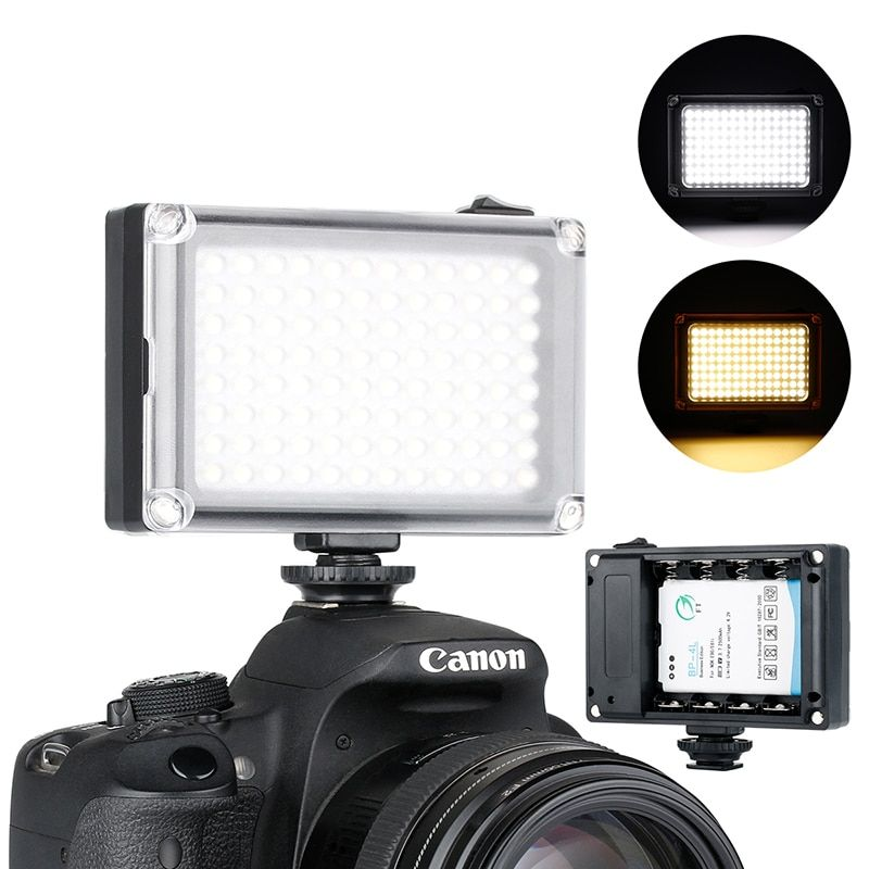 Ulanzi 96 On Camera LED Video Light Photo Studio DSLR Lighting with Cold Shoe Mount for <font><b>Nikon</b></font> Canon Sony Pentax Fill Light