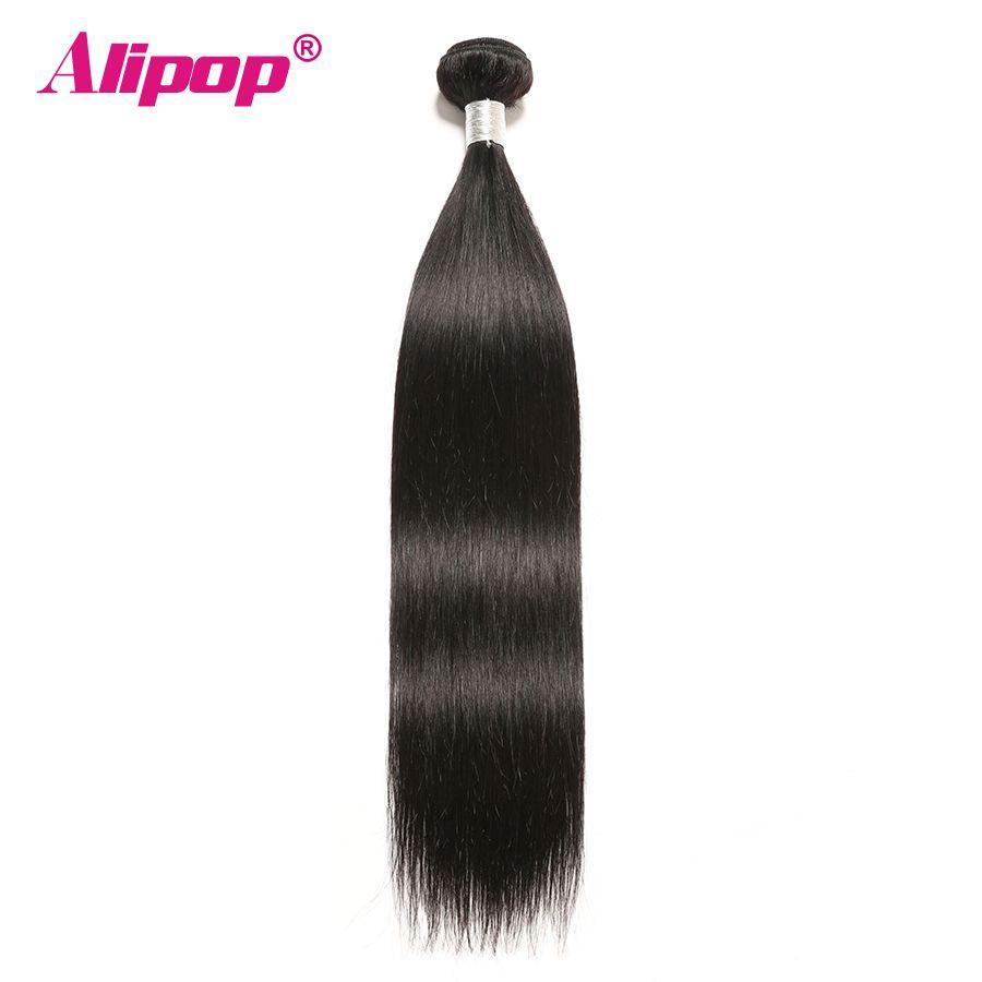 Cheveux remy cheveux raides péruviens 100% cheveux humains Faisceaux En Gros Alipop Double Trame 8-28 Pouces Livraison Gratuite Naturel Noir 1 PC