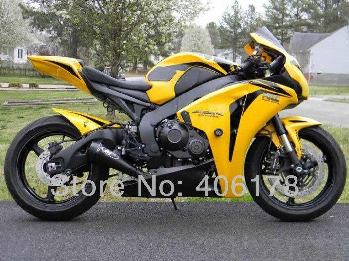 Heiße Verkäufe, günstige ABS verkleidung kit Für Honda CBR1000RR 08 09 10 11 Fireblade 2008-2011 Gelb & Schwarz Verkleidungen (spritzguss)