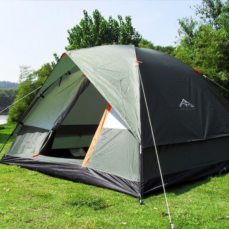 Trois Personne 200*200*130 cm Double Couche Résistant Aux Intempéries Camping En Plein Air Tente pour la Pêche, Aventure de chasse et Fête de Famille