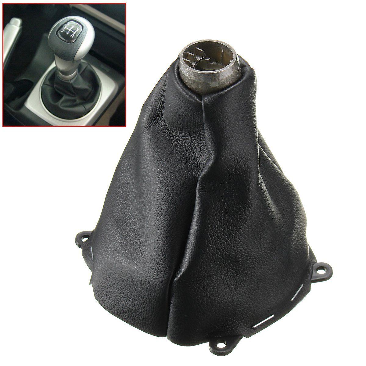Car Manual Leather Gear Gaiter Shift Shifter Boot For Honda for Civic Si 2006 2007 2008 2009 2010 2011 Black Gear Shift Collars