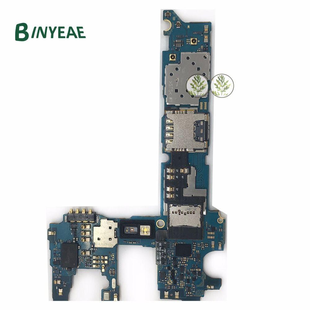 BINYEAE Original Unlocked Main Motherboard Logic Board Clean Imei 32GB Replacement For Samsung Galaxy Note 4 N910C