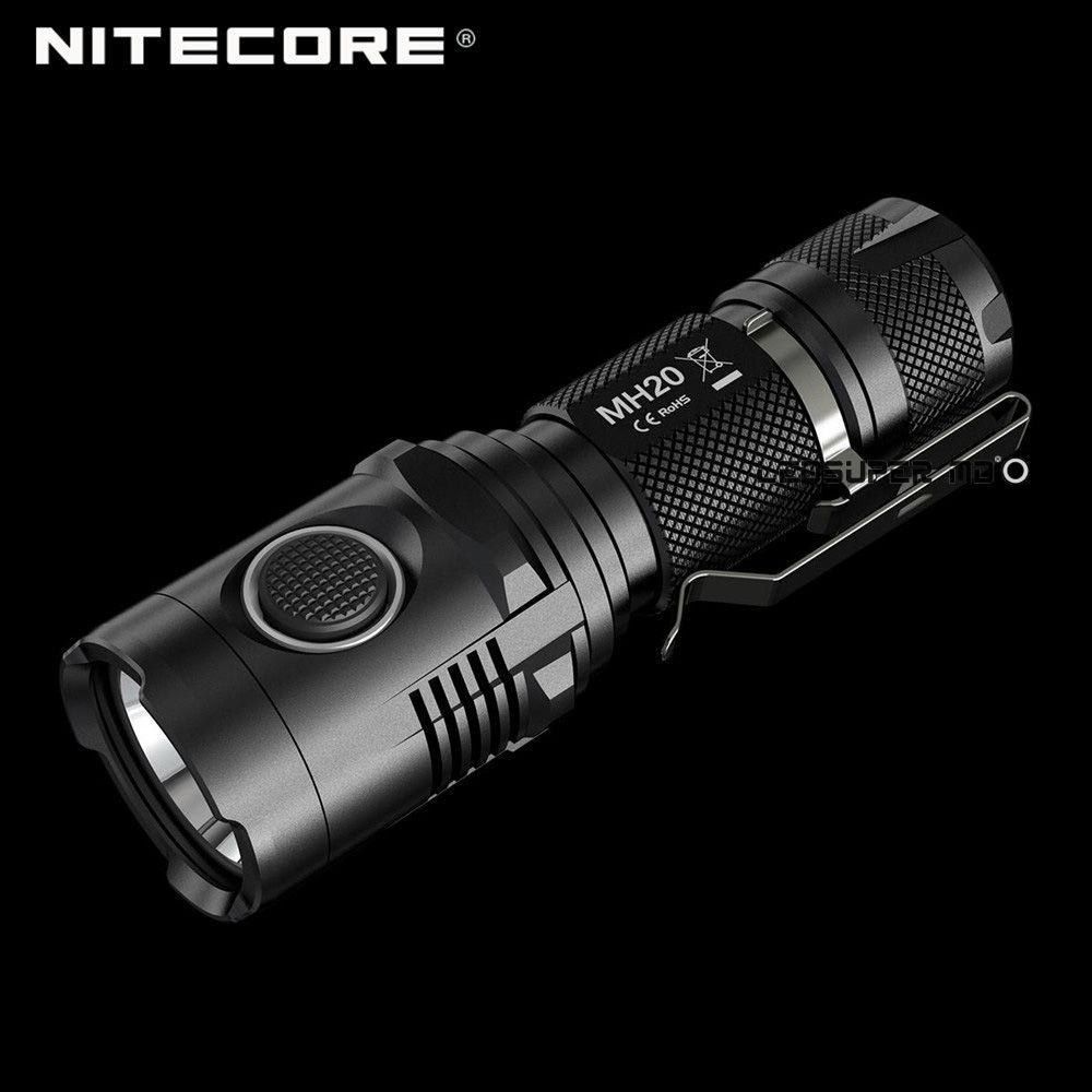 Beste Verkauf Nitecore MH20 CREE XM-L2 U2 LED handtellergroße Wiederaufladbare USB Taschenlampe 1000 Lumen