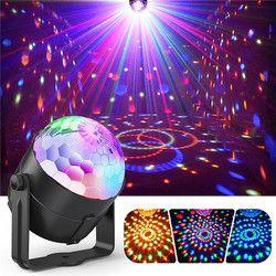 ZjRight الصوت المنشط ديسكو أضواء الدورية كرات إضاءة RGB LED ضوء المرحلة ل كيد عيد الميلاد المنزل KTV عيد الميلاد الزفاف تظهر حانة