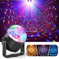 ZjRight Sound Activated Disco Lights Rotating Ball Lights RGB LED Stage Light For kid's Christmas Home KTV Xmas Wedding Show Pub