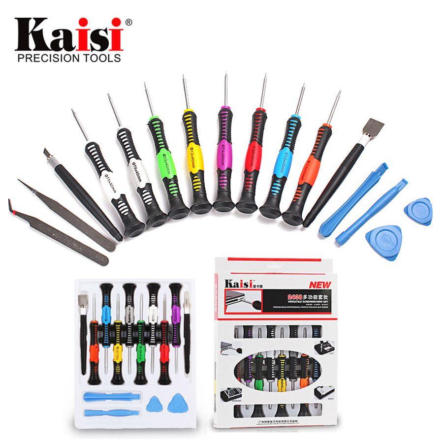 Kaisi Précision 16 dans 1 Tournevis Set Mobile Téléphone Réparation Outil pour iPhone/Ordinateurs Portables/Téléphone Portable/PC