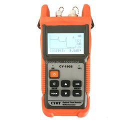 Fibra óptica guardabosques MINI OTDR CY190S Localizador Visual de detección de fallos y posicionamiento instrumento