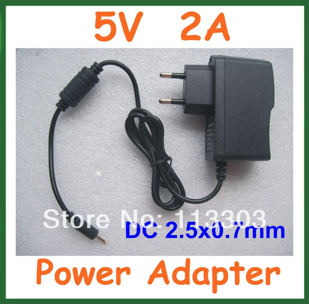 5V 2A DC 2.5mm Charger Power Adapter Supply for Android Tablet PC Q88 Cube U25GT U35GT2 U18GT Yuandao N70 N80RK Pipo S3 Pro
