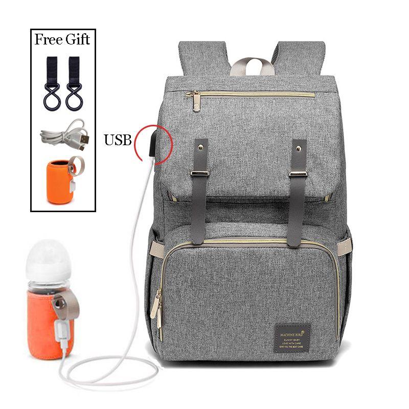 Mode grande capacité bébé Nappy sac sac à langer sac à main multifonction USB momie voyage sac à dos femmes soins infirmiers sacs pour maman papa