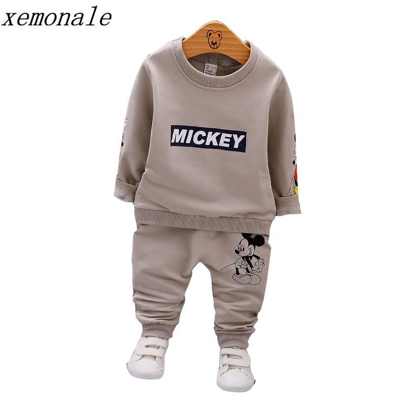 Printemps Automne Bébé Garçons Vêtements Pleine Manches T-shirt Et Pantalon 2 pcs Coton Costumes Enfants Vêtements Définit Enfant Marque Survêtements
